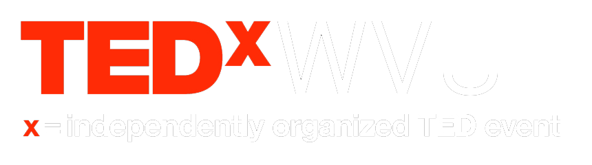 Logo: TEDxWVU x = independently organized TED event